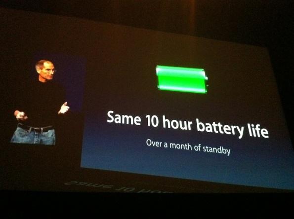 Duración de la bateria - iPad 2 - 2 Marzo