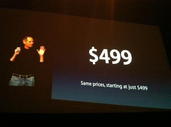 499 dólares - iPad 2 - 2 Marzo