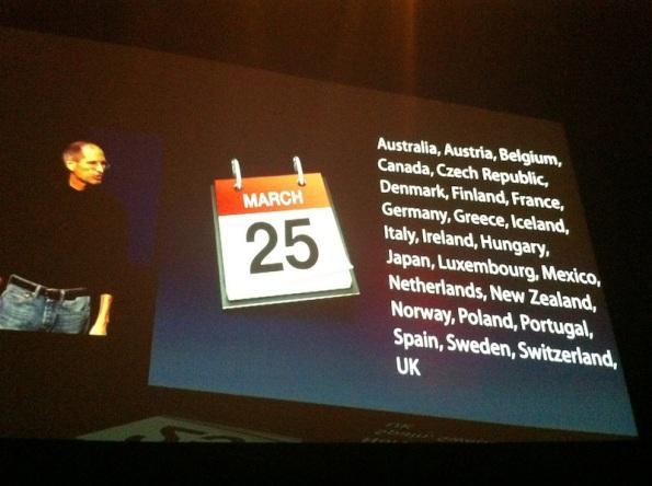 25 de Marzo - iPad 2 - 2 Marzo