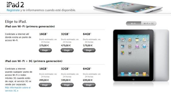iPad 2 Store Online Española