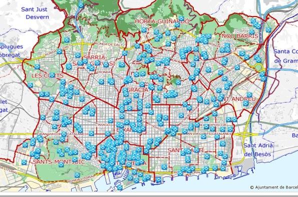 Mapa Wifi Barcelona