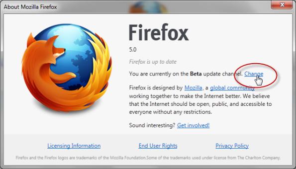 Firefox 5 Pre Beta 1-2