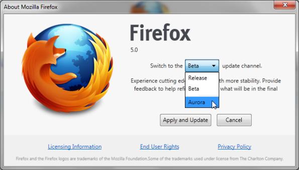 Firefox 5 Pre Beta 1-3