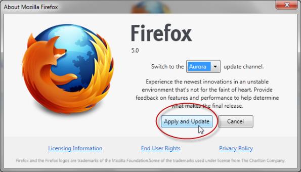 Firefox 5 Pre Beta 1-4